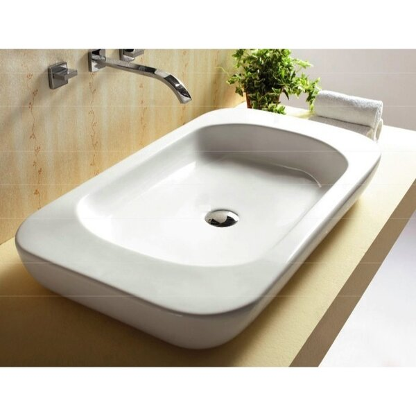 Ceramica Ceramic Rectangular Vessel Bathroom Sink