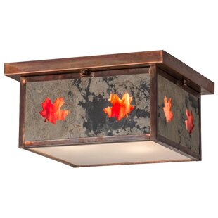 Price comparison Yedinak Maple Leaf 3-Light Outdoor Flush Mount By Loon Peak