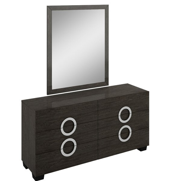 Madalyn 6 Drawer Double Dresser with Mirror by Orren Ellis