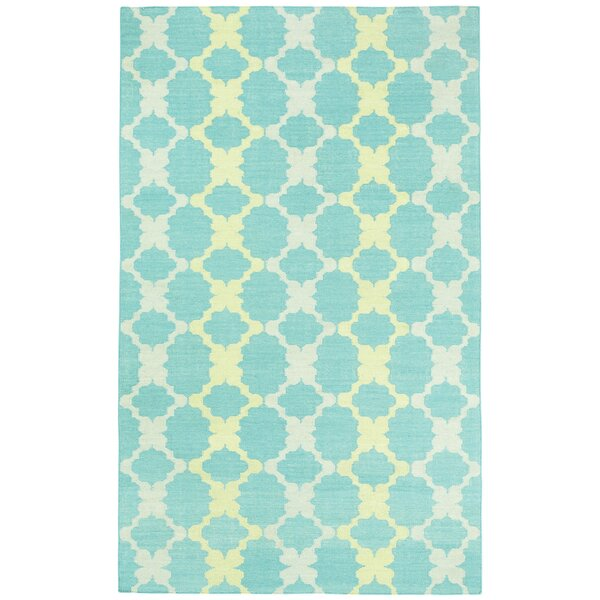 Coastline Blue / Gold Trellis Area Rug by Capel Rugs