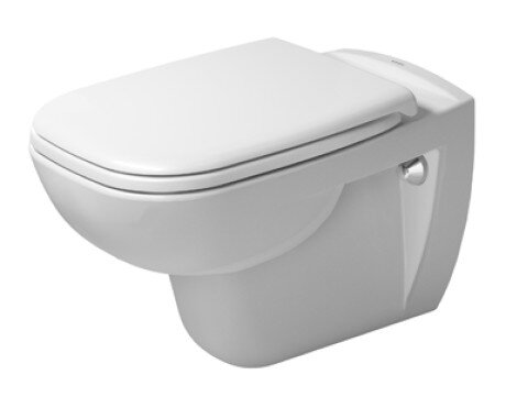 D-Code 1.28 GPF (Water Efficient) Elongated Wall Mounted Toilet with High Efficiency Flush (Seat Not Included) by Duravit