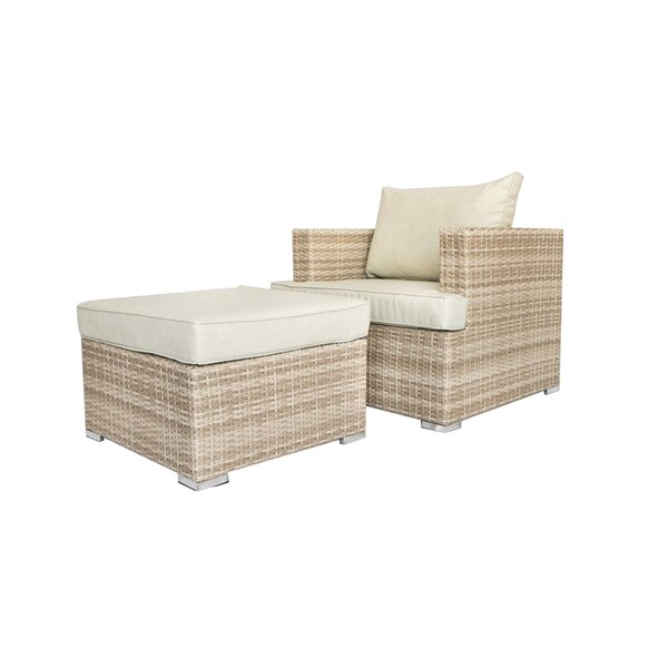 Nowak Patio Chair with Cushions by Willa Arlo Interiors Willa Arlo Interiors