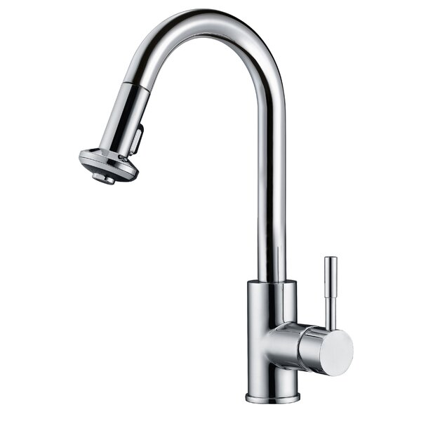 Pull Down Single Handle Kitchen Faucet by Dawn USA