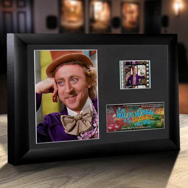 Willy Wonka and the Chocolate Factory Framed FilmCells Desktop Presentation by Trend Setters
