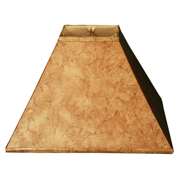 16 Faux Leather Empire Lamp Shade by Alcott Hill