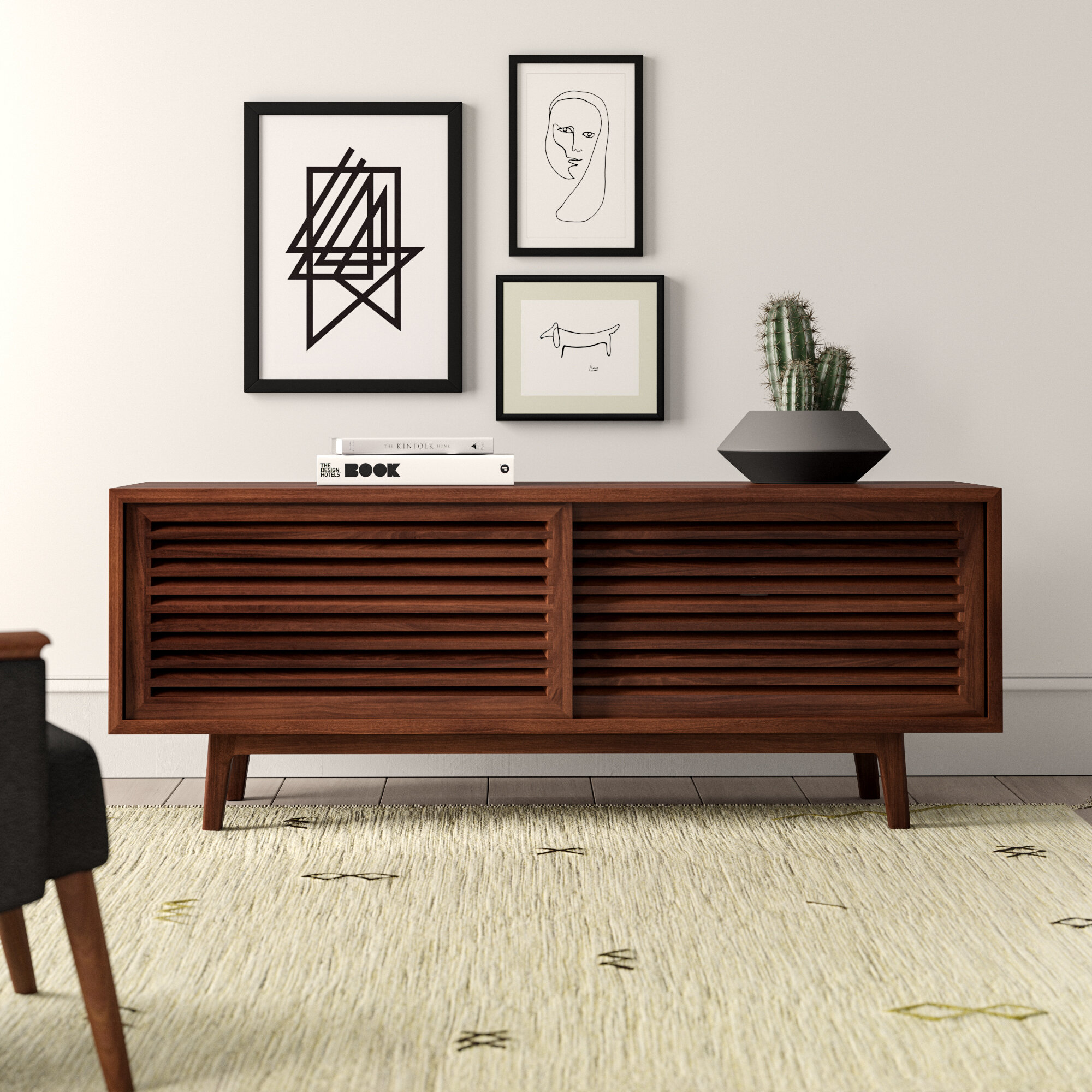 Vitale Solid Wood Tv Stand For Tvs Up