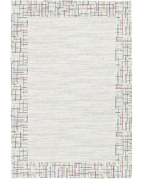 Brock Ivory Area Rug by Ebern Designs