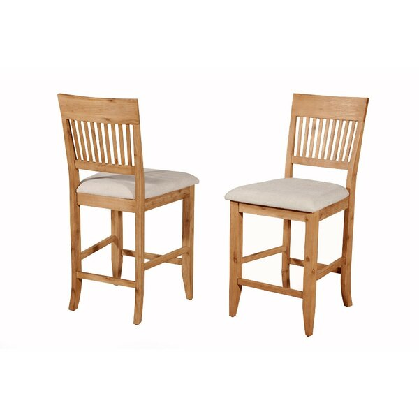 Iseminger Wooden Bar Stool (Set of 2) by August Grove