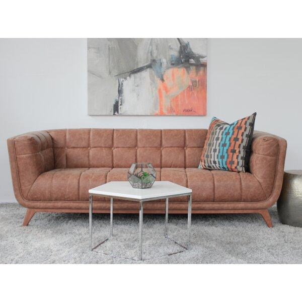Caryn Leather Sofa by Corrigan Studio