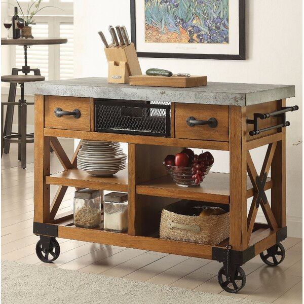 Whyte Wood Kitchen Cart by Loon Peak