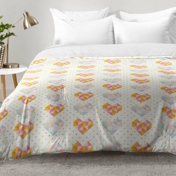 Love Patch Comforter Set by East Urban Home