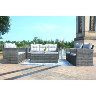 Godfrey 6 Piece Sofa Set with Cushions by Rosecliff Heights