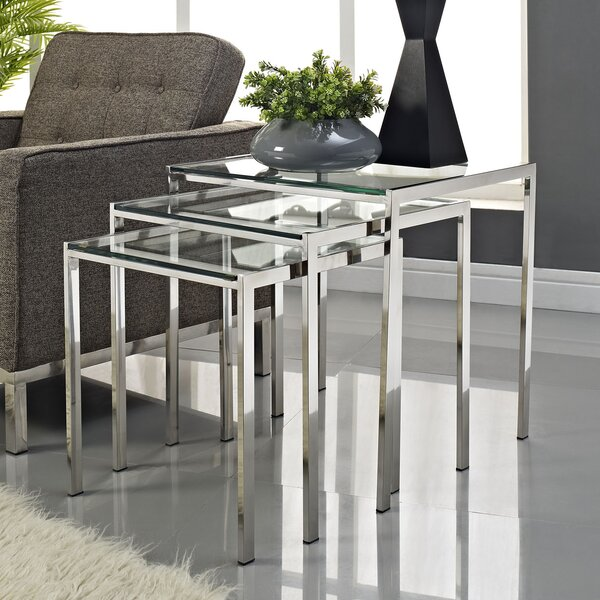 Nimble 3 Piece Nesting Tables by Modway