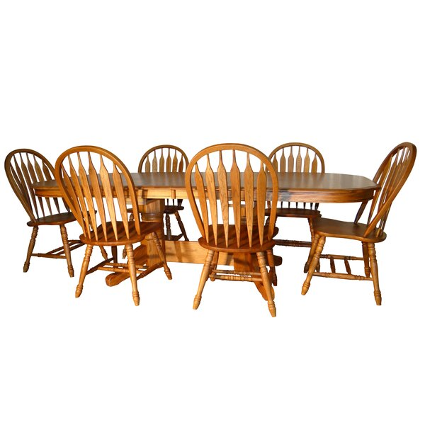 Sapphire 7 Piece Traditional Dining Set by August Grove