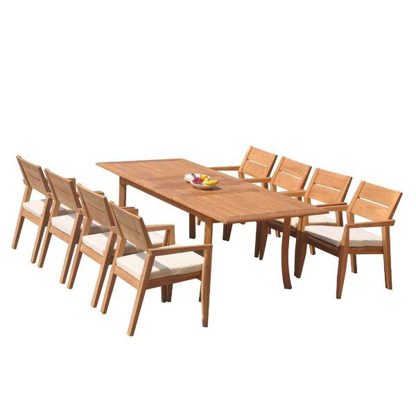 Vellore 9 Piece Teak Dining Set by Teak Smith