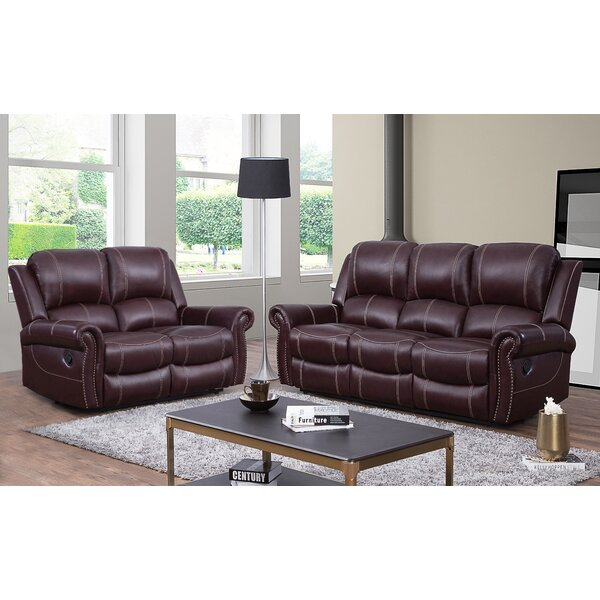 Lopp 2 Piece Leather Reclining Living Room Set by Red Barrel Studio