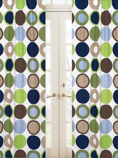 Designer Dot Polka dots Semi-Sheer Rod pocket Curtain Panels (Set of 2) by Sweet Jojo Designs