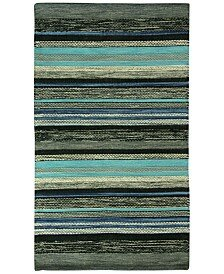 Mollins Cotton Dark Blue/Green Area Rug by Jessica Simpson Home
