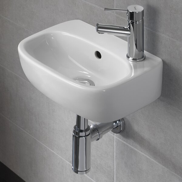 Moda Vitreous China 15 Wall Mount Bathroom Sink with Overflow by Bissonnet