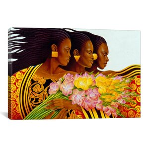 Three Sisters by Keith Mallett Graphic Art on Canvas by iCanvas