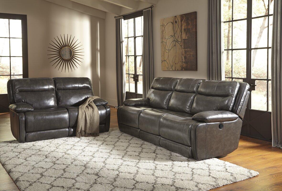 Trent Austin Design Gigi Leather Reclining Sofa Amp Reviews