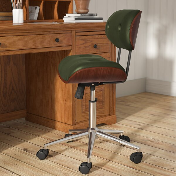 Mariah Button-Tufted Mid-Back Drafting Chair by Langley Street