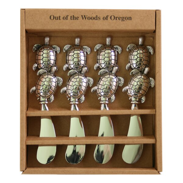 Metal Spreaders Turtles Cheese Knife (Set of 4) by Out of the Woods of Oregon