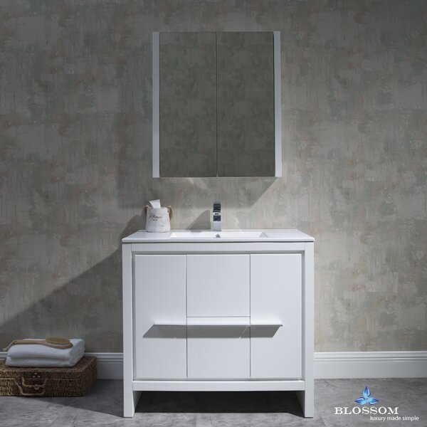Artemis 35 Single Bathroom Vanity Set with Mirror by Ivy BronxArtemis 35 Single Bathroom Vanity Set with Mirror by Ivy Bronx