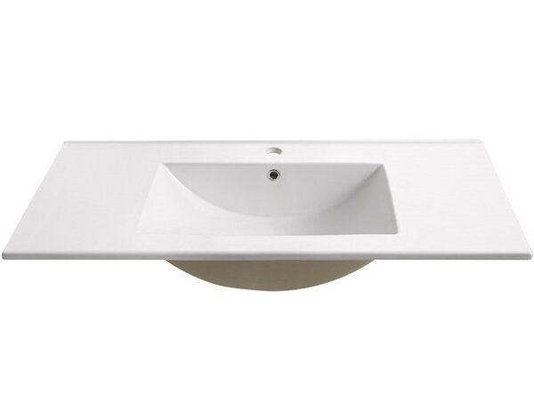 Torino Ceramic Rectangular Drop-In Bathroom Sink with Overflow by Fresca