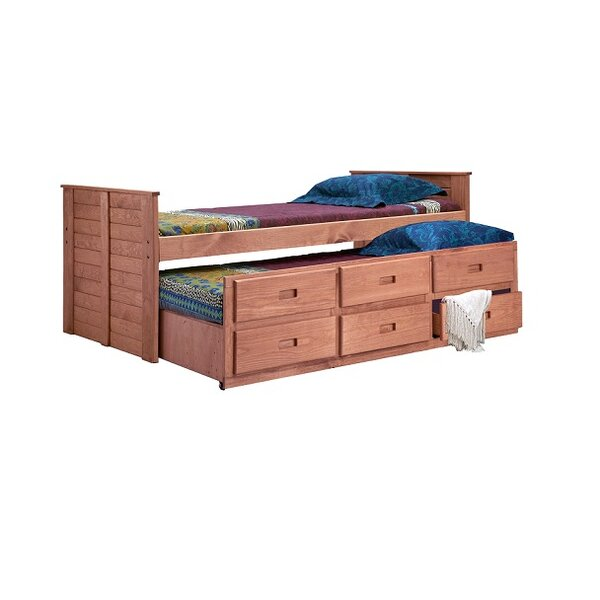 Cirillo Twin Mates & Captains Bed with Trundle by Harriet Bee