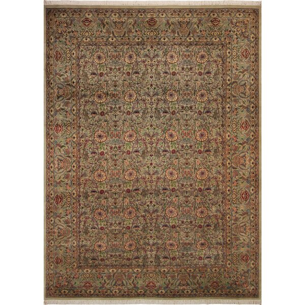 One-of-a-Kind Delron Hand-Knotted Wool Light Gray/Light Tan Area Rug by Astoria Grand