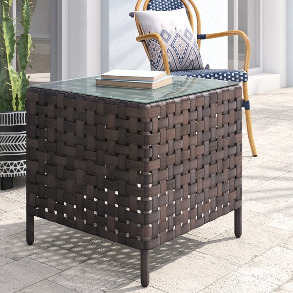 Rayden Glass Side Table by Ivy Bronx