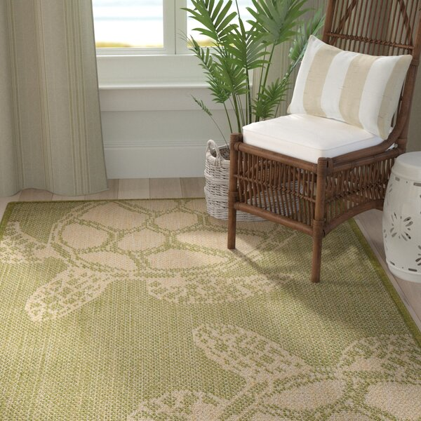 Lambert Seaturtle Green Indoor/Outdoor Area Rug by Bay Isle Home