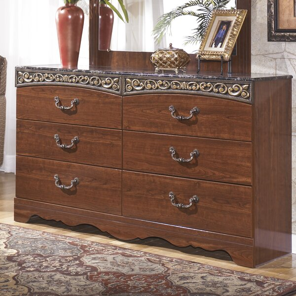 Samia 6 Drawer Double Dresser by Fleur De Lis Living