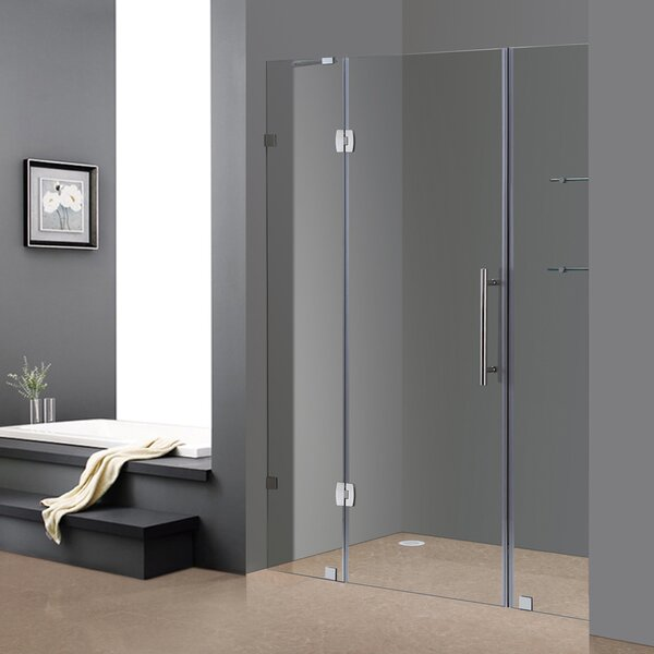 Soleil 60 x 75 Hinged Completely Frameless Shower Door by Aston