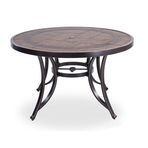 "48"" Round Dining Table Outdoor Patio Garden Furniture by Fleur De Lis Living"