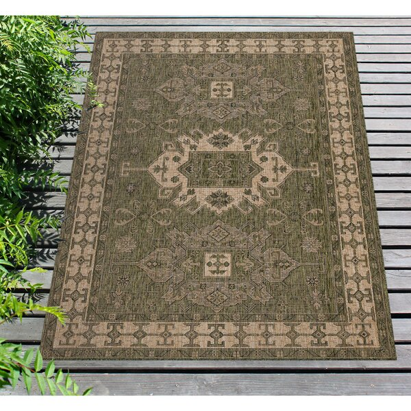 Arverne Green Indoor/Outdoor Area Rug by Charlton Home