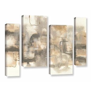 Platinum Neutrals I 4 Piece Painting Print on Wrapped Canvas Set by Latitude Run