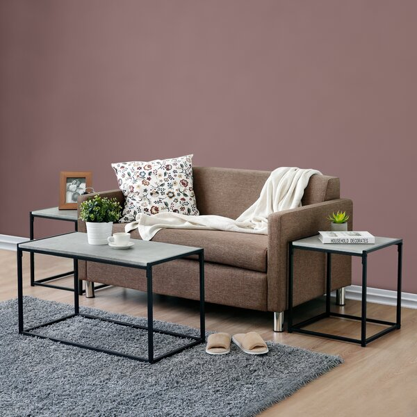 Andresen 3 Piece Coffee Table Set