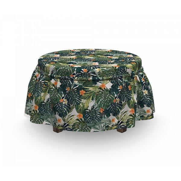 Hawaii Polynesia Plant 2 Piece Box Cushion Ottoman Slipcover Set By East Urban Home