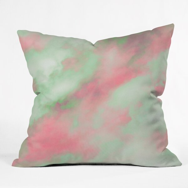 Caleb Troy Pastel Christmas Throw Pillow by Deny Designs