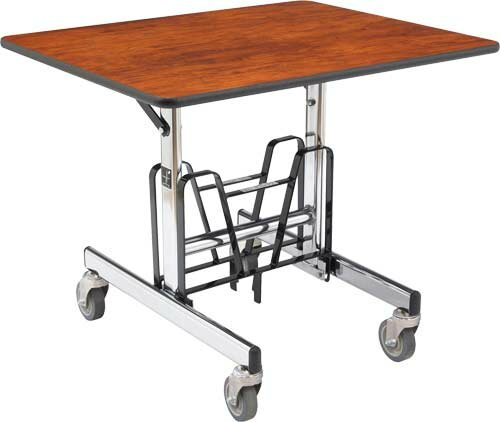 Uni-Fold 36 x 28.5 Rectangular Cafeteria Table by