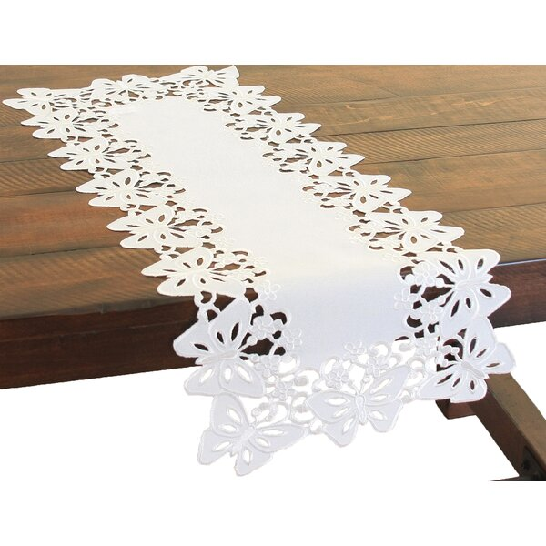 Primavera Embroidered Cutwork Mini Table Runner by Xia Home Fashions