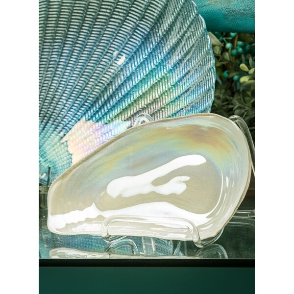 Bruening Oyster Shell Decorative Plate (Set of 2)
