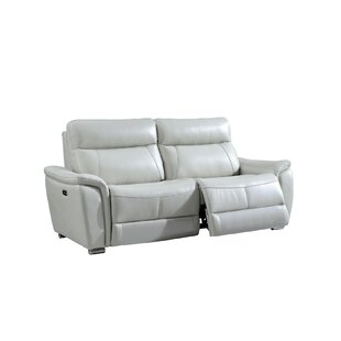 Meister Electric Leather Reclining Sofa by Latitude Run