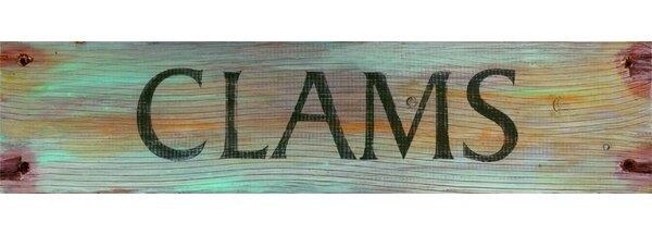 Clams Textual Art Plaque by Highland Dunes