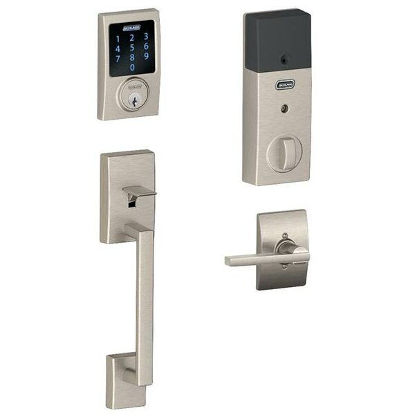 FE Series Century Touchscreen Handleset with Interior Latitude Lever by Schlage