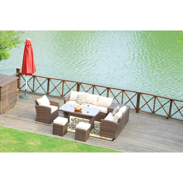 Angelica Lounge Dining 7 Piece with Cushions by Bayou Breeze