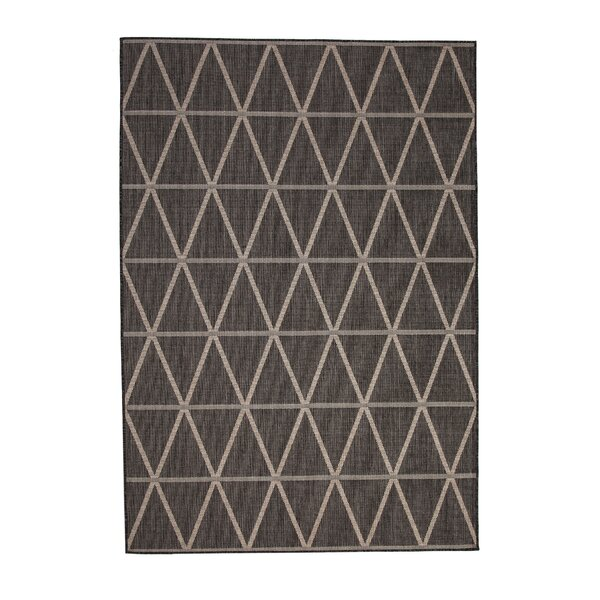 Glinda Charcoal/Beige Indoor/Outdoor Area Rug by Williston Forge