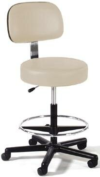 Height Adjustable Lab Stool with Single Lever Release by Intensa